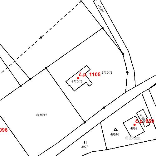 Katastrální mapa Stavební objekt Vendryně 1105, Vendryně