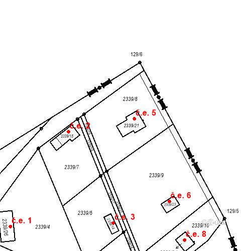 Katastrální mapa Stavební objekt Hranice 5, Karviná