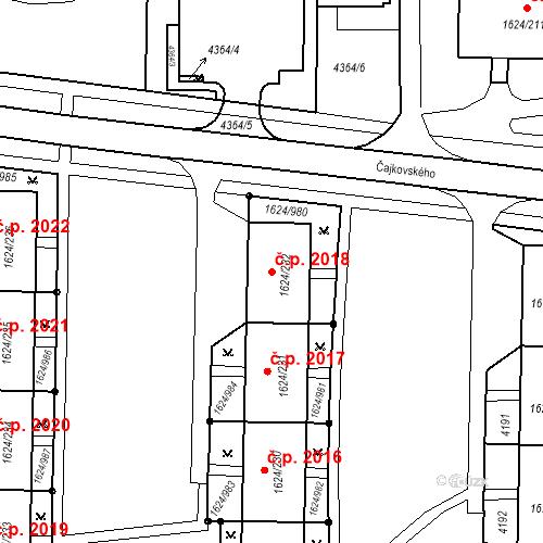 Katastrální mapa Stavební objekt Mizerov 2018, Karviná