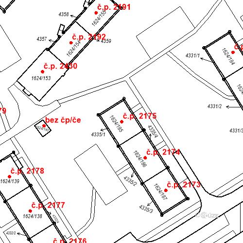 Katastrální mapa Stavební objekt Mizerov 2175, Karviná
