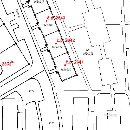Katastrální mapa Stavební objekt Mizerov 2341, Karviná