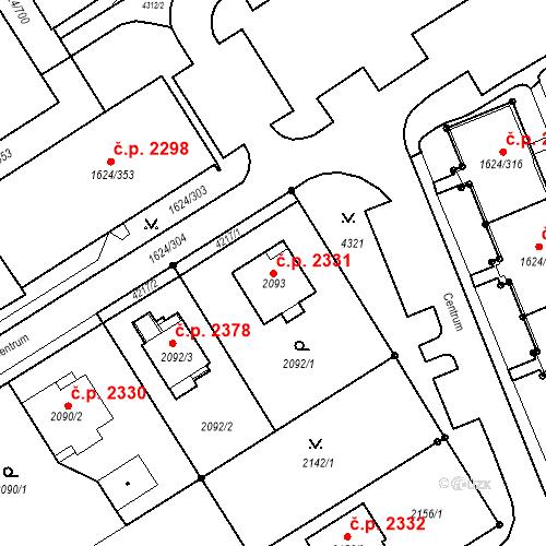 Katastrální mapa Stavební objekt Mizerov 2331, Karviná