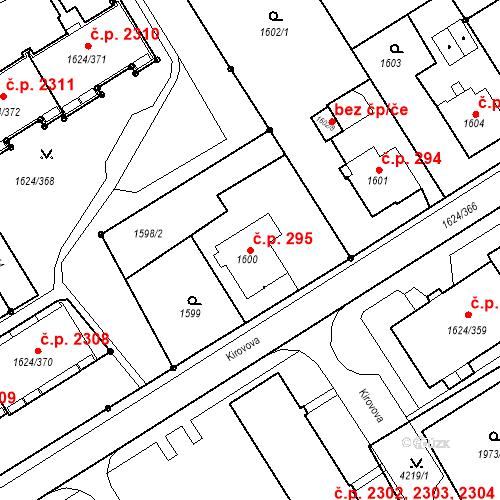 Katastrální mapa Stavební objekt Mizerov 295, Karviná