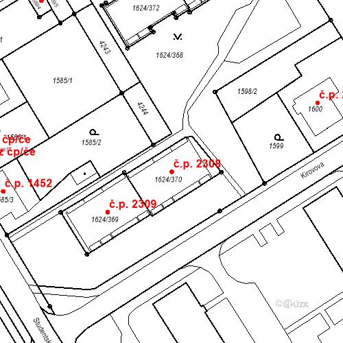 Katastrální mapa Stavební objekt Mizerov 2308, Karviná