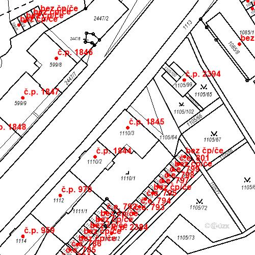 Katastrální mapa Stavební objekt Mizerov 1845, Karviná