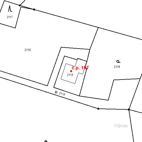 Katastrální mapa Stavební objekt Albrechtice 197, Albrechtice
