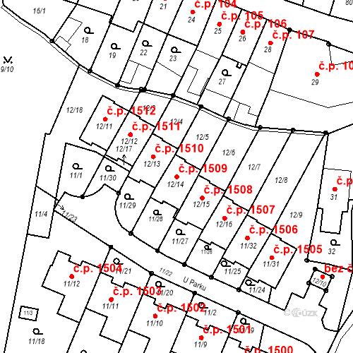 Katastrální mapa Stavební objekt Fryštát 1509, Karviná