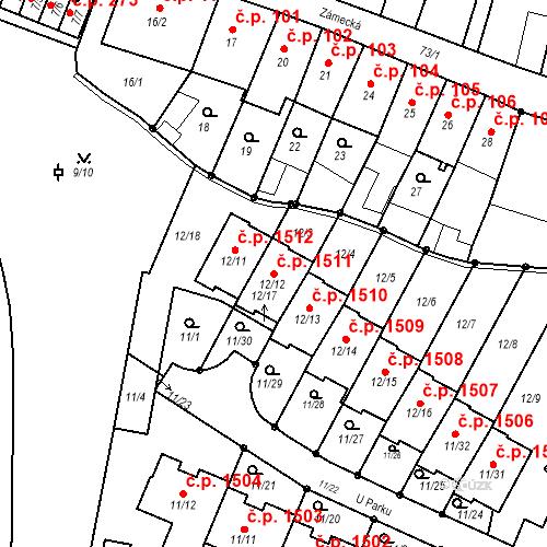 Katastrální mapa Stavební objekt Fryštát 1511, Karviná