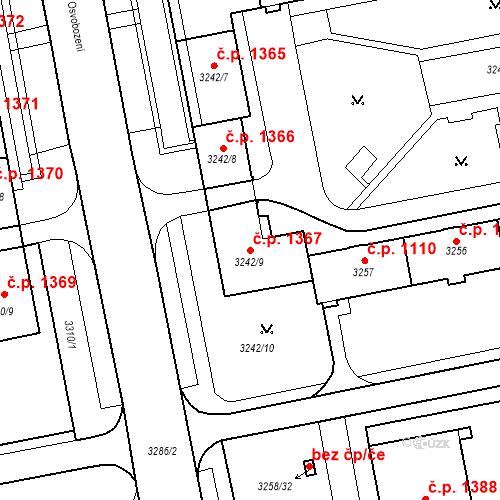 Katastrální mapa Stavební objekt Nové Město 1367, Karviná