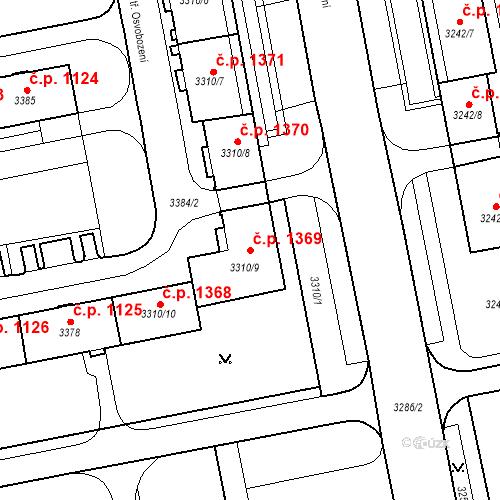 Katastrální mapa Stavební objekt Nové Město 1369, Karviná