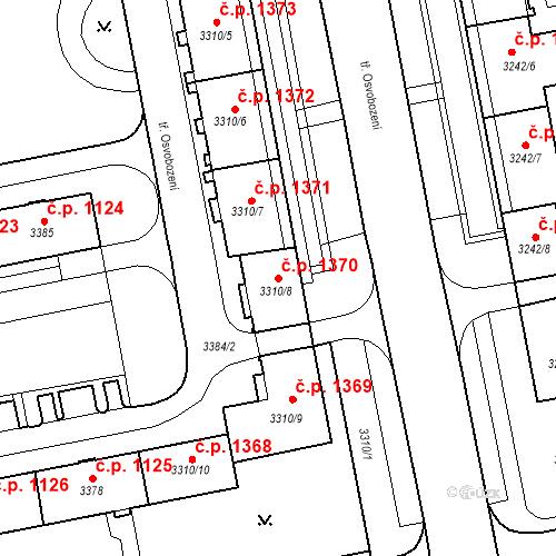 Katastrální mapa Stavební objekt Nové Město 1370, Karviná