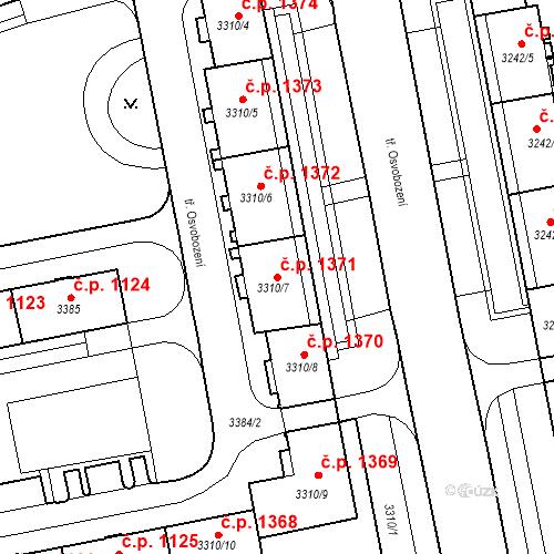 Katastrální mapa Stavební objekt Nové Město 1371, Karviná