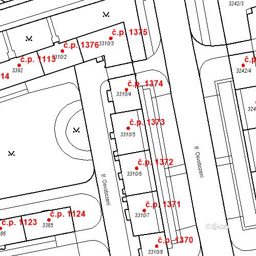Katastrální mapa Stavební objekt Nové Město 1373, Karviná