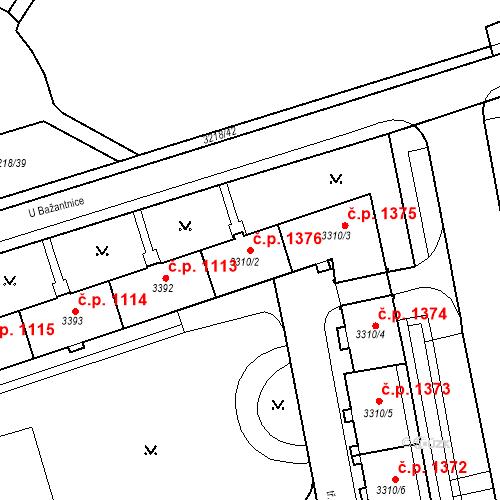 Katastrální mapa Stavební objekt Nové Město 1376, Karviná