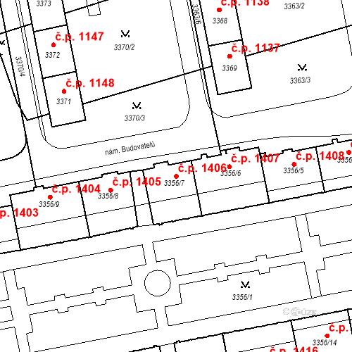Katastrální mapa Stavební objekt Nové Město 1406, Karviná