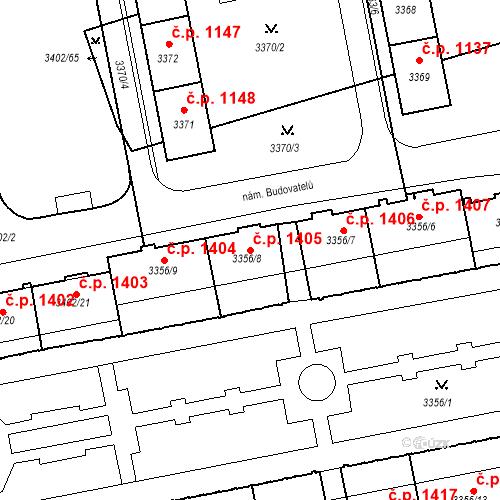 Katastrální mapa Stavební objekt Nové Město 1405, Karviná