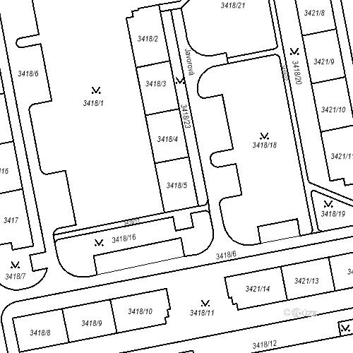 Katastrální mapa Stavební objekt Nové Město 1284, Karviná