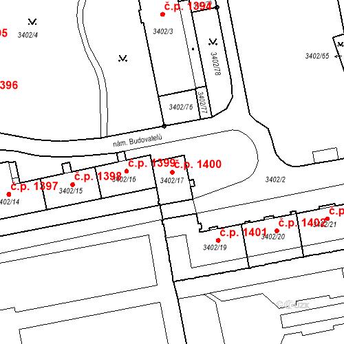 Katastrální mapa Stavební objekt Nové Město 1400, Karviná