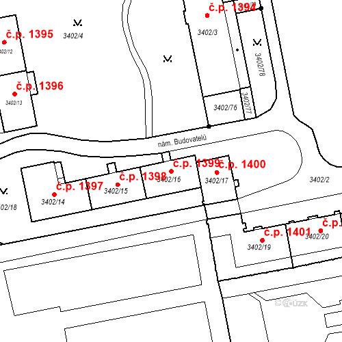 Katastrální mapa Stavební objekt Nové Město 1399, Karviná