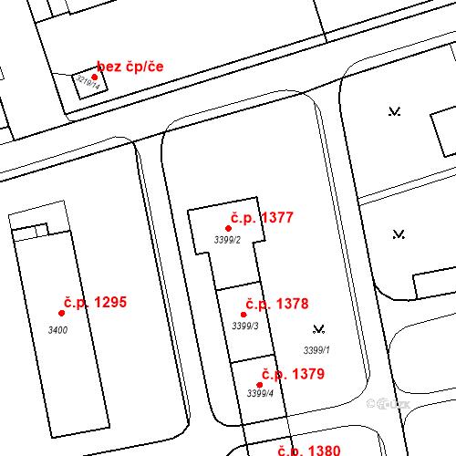Katastrální mapa Stavební objekt Nové Město 1377, Karviná