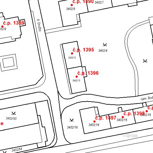 Katastrální mapa Stavební objekt Nové Město 1396, Karviná