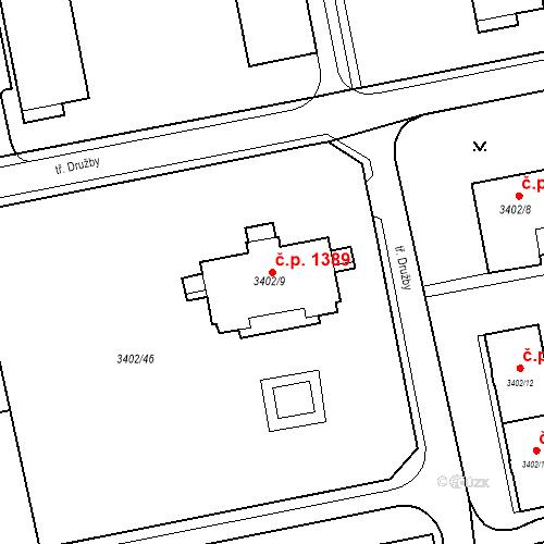 Katastrální mapa Stavební objekt Nové Město 1389, Karviná
