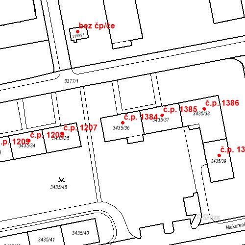 Katastrální mapa Stavební objekt Nové Město 1384, Karviná
