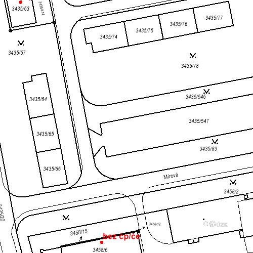 Katastrální mapa Stavební objekt Nové Město 1251, Karviná