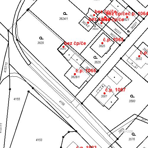 Katastrální mapa Stavební objekt Nové Město 1066, Karviná