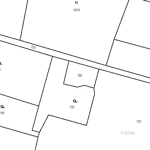 Katastrální mapa Stavební objekt Albrechtice 192, Albrechtice
