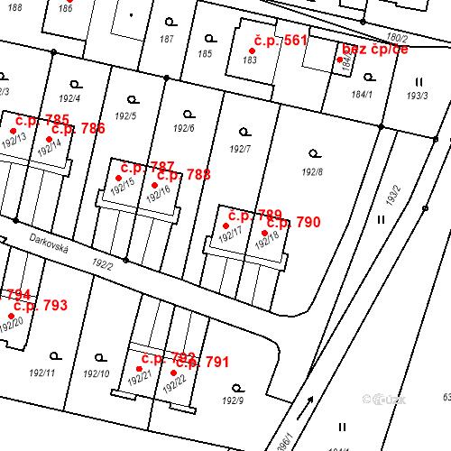Katastrální mapa Stavební objekt Albrechtice 789, Albrechtice