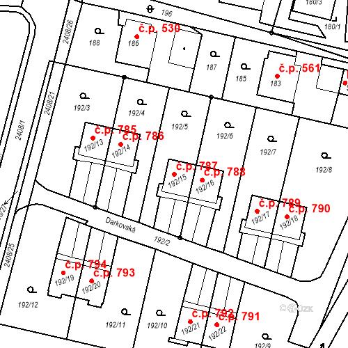Katastrální mapa Stavební objekt Albrechtice 787, Albrechtice