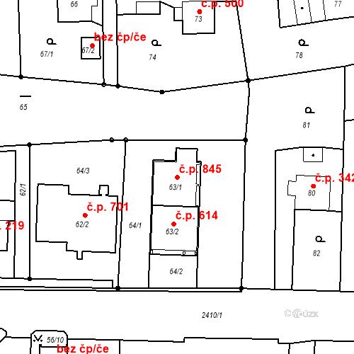 Katastrální mapa Stavební objekt Albrechtice 845, Albrechtice