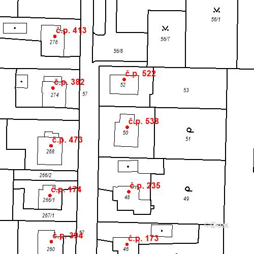 Katastrální mapa Stavební objekt Albrechtice 538, Albrechtice