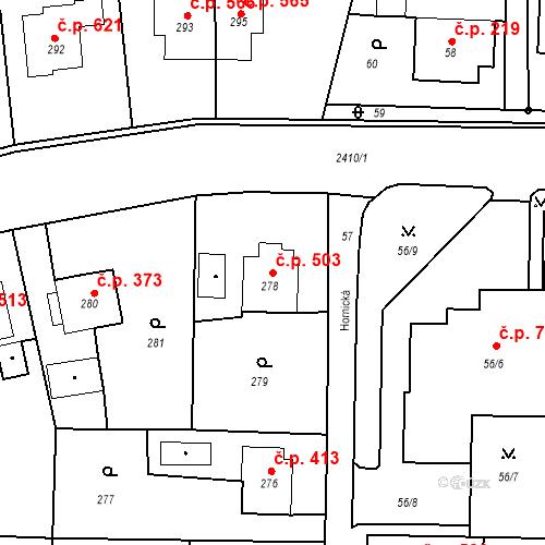 Katastrální mapa Stavební objekt Albrechtice 503, Albrechtice