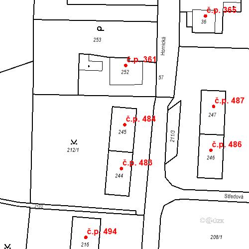 Katastrální mapa Stavební objekt Albrechtice 484, Albrechtice