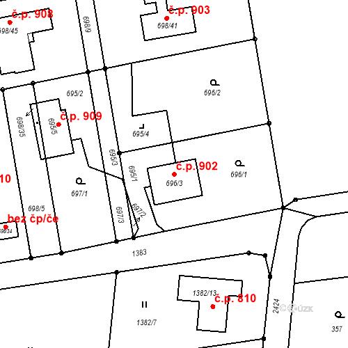 Katastrální mapa Stavební objekt Albrechtice 902, Albrechtice