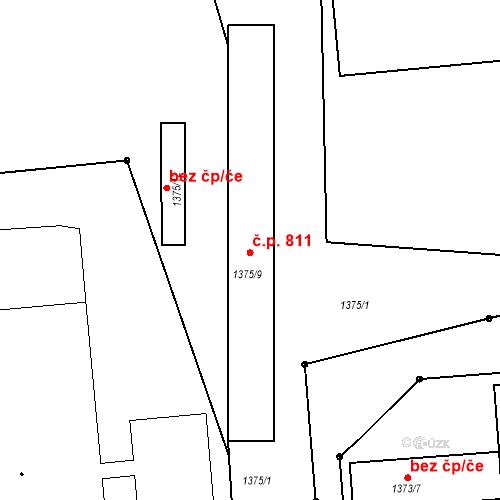 Katastrální mapa Stavební objekt Albrechtice 811, Albrechtice