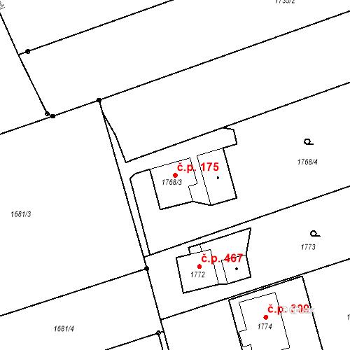 Katastrální mapa Stavební objekt Albrechtice 175, Albrechtice