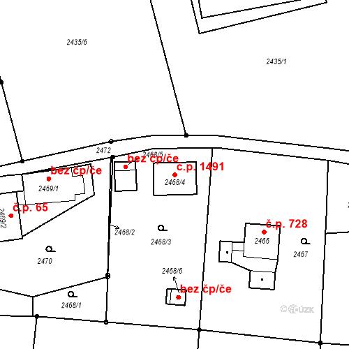 Katastrální mapa Stavební objekt Horní Suchá 1491, Horní Suchá