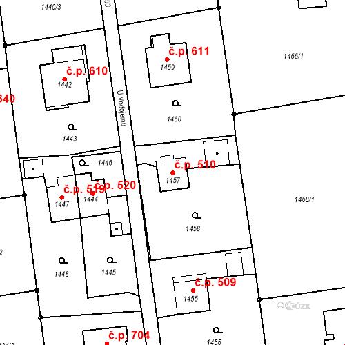 Katastrální mapa Stavební objekt Albrechtice 510, Albrechtice