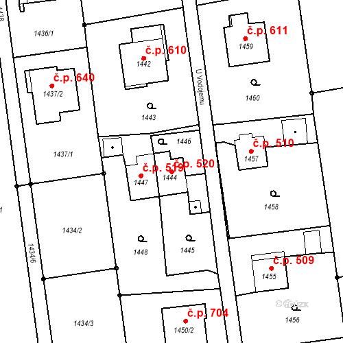 Katastrální mapa Stavební objekt Albrechtice 520, Albrechtice
