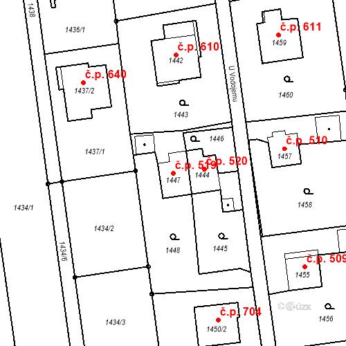 Katastrální mapa Stavební objekt Albrechtice 519, Albrechtice