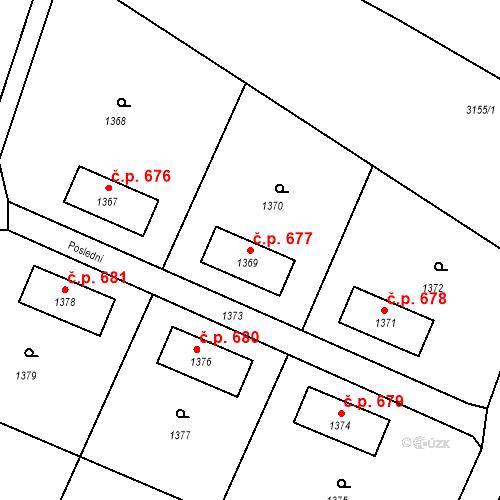 Katastrální mapa Stavební objekt Horní Suchá 677, Horní Suchá