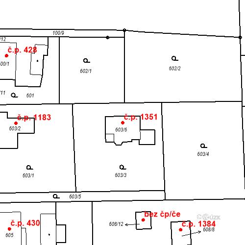 Katastrální mapa Stavební objekt Horní Suchá 1351, Horní Suchá
