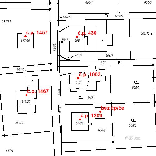 Katastrální mapa Stavební objekt Horní Suchá 1003, Horní Suchá