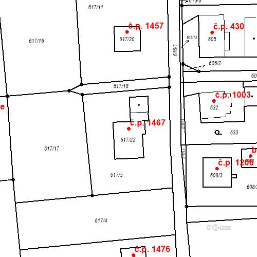 Katastrální mapa Stavební objekt Horní Suchá 1467, Horní Suchá