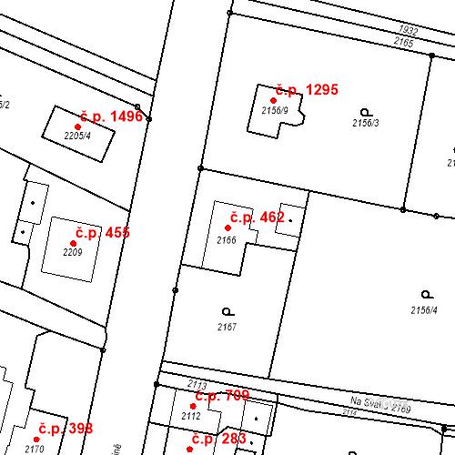Katastrální mapa Stavební objekt Dolní Lutyně 462, Dolní Lutyně