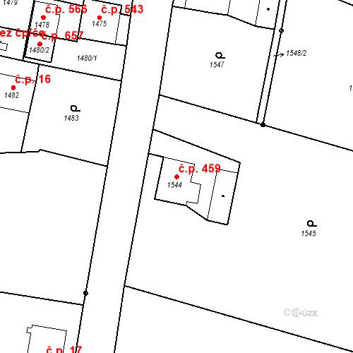 Katastrální mapa Stavební objekt Dolní Lutyně 459, Dolní Lutyně