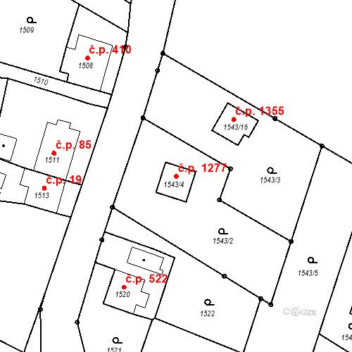 Katastrální mapa Stavební objekt Dolní Lutyně 1277, Dolní Lutyně